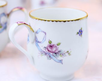 VSC Hand Painted Lady's Mug with Rose and Ribbon