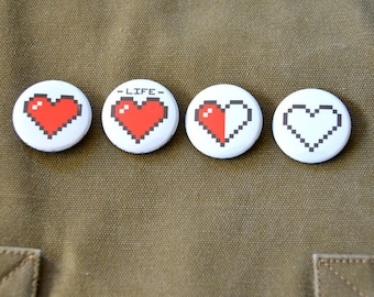 Pixel Hearts - 4 Buttons