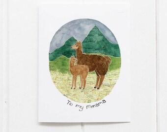 Llama Mothers Day Card / Mom Card / Greeting Card / Llama Card / Mother's Day Card / Mother's Day / Mom Birthday Card / Pun / Funny Card