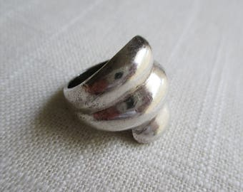 Vintage Modern Ring - Sterling SIlver - Mexico TF52 - Size 7