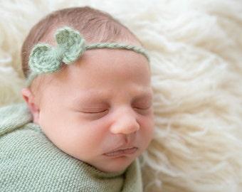 Baby Headband Bow, Baby Girl Headband, Halo Headband, Halo Prop, Infant Headbands, Newborn Girl, Ready to Ship Newborn Props, RTS Newborn