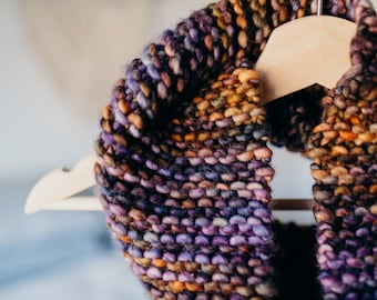 Cozy Knit Multicolor Cowl