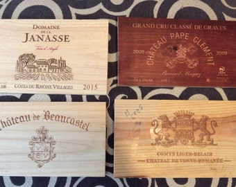 Set of 4 French Wine Panels ** Free Shipping