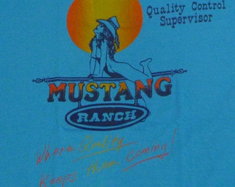 Vintage 80s Mustang Ranch T-Shirt