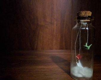 Cranes in a bottle