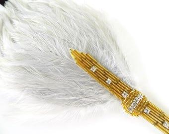 1920s Wedding Headpiece, Gold Flapper Headband, 1920s Headband, Bridal Hair Accessory,  Gatsby Headpiece Gatsby Headband Art Deco Silver
