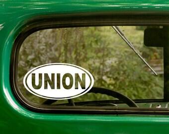 Oval Union Decal, Car Decal, Union Sticker, United, Euro Decal, Laptop Sticker, Oval Sticker, Bumper, Vinyl Decal, Car Sticker