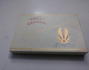 Vintage SWEET CAPORAL Cigarettes Tobacco Tin Kinney Bros