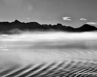 Alaska Landscape, Black and White, Fine Art Photo