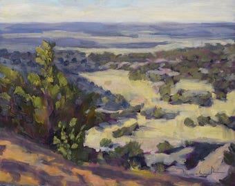 Galisteo Morning Light, New Mexico - Original Oil Landscape Painting