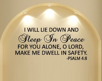 I will lie down #22 ~ Wall Decal
