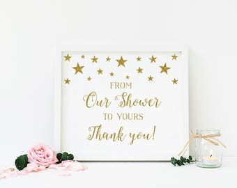 Twinkle Twinkle Little Star Favor Sign, Shower Favor Sign, From Our Shower To Yours, Treat Sign, Dessert Sign, Baby Shower, Printable - SG1