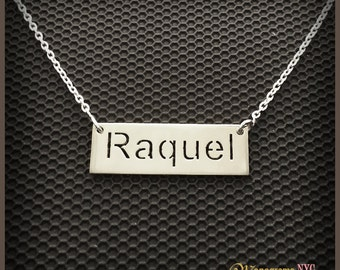 "Sterling Silver cut out Name Necklace ""100% Satisfaction Guarantee or Money Back"""