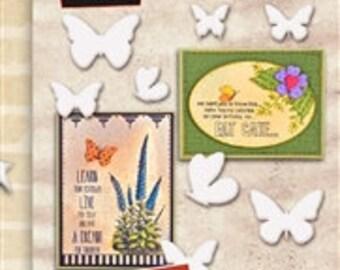 Butterflies Scrapbooking Embellishments- Wendy Vecchi Mat Mini