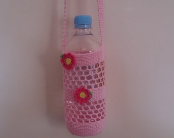 Water Bottle Holder (up to 600 ml bottle), Festival Drink holder, Water Bottle Carrier, PET Bottle Bag, Eco friendly Gift, Mothers Day Gift