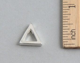 SALE, Triangle Charm, Silver Triangle Pendant, Sterling Silver Charm, Sterling Silver cut out triangle charm, Geometric Charm, 15mm(1 piece)
