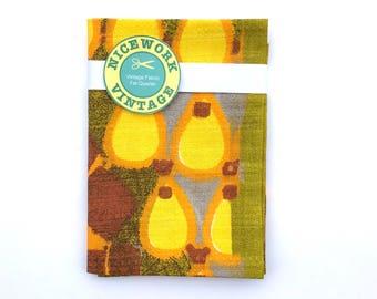 Vintage Barkcloth Fabric - 60s Abstract Design FQ