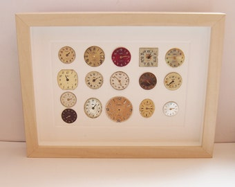 Framed Watch Art, Art made from Watches, Watch Display, Gift for Watch Collector, Watch Faces Display, Gift for Watch Lover