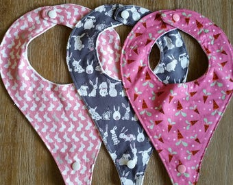 EASTER themed Dummy bibs. available as set of 3 or individually