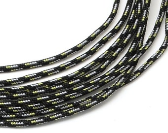 Paracord 2mmx5m black camouflage