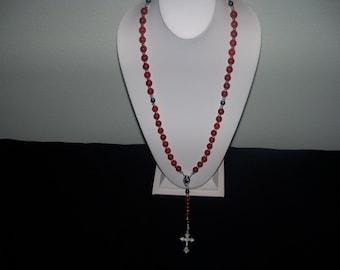 A Beautiful/Wearable Red Carnelian Rosary. (201805)
