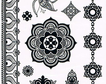 Temporary tattoos Black Lace YHB007 21 X 14.5 CM