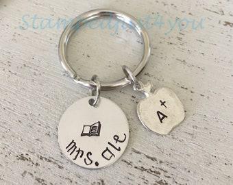 Personalized Teacher Appreciation Gift Keychain