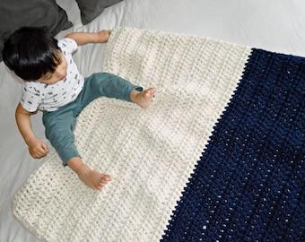 Chunky Crochet Crib Blanket // Chunky Knitted Crib Baby Blanket // Toddler Crochet Blanket