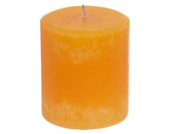 Handmade Orange Scented Pillar Candle