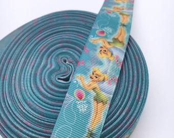 Tinkerbell 7/8 22mm Grosgrain Ribbon per  Meter