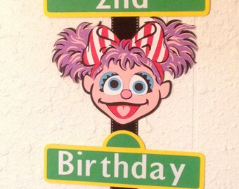 Elmo and Abby Birthday Party Sign, Personalized, Elmo party, Sesame Street party
