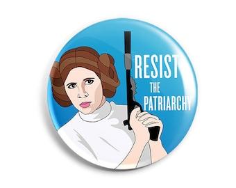 Feminist Princess Leia Button