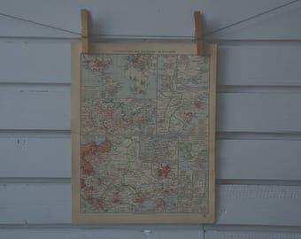 1931 Vintage German Diaspora Map