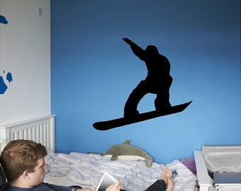 Snowboarder Wall Decal Removable Snowboarding Wall Sticker
