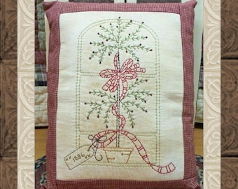 Window Topiary-Primitive Stitchery  E-PATTERN-INSTANT DOWNLOAD