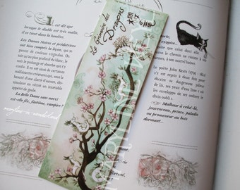 nice bookmark dragon turquoise cherry