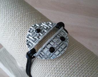Pewter Black Bracelet