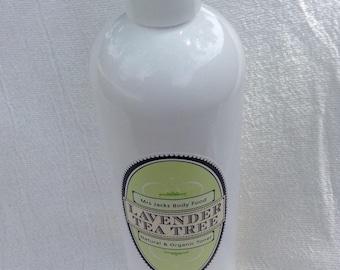 Lavender & Tea Tree , Facial Toner, Organic , Facial Wash, Herbal, All Natural. Facial Cleanser, 16 oz