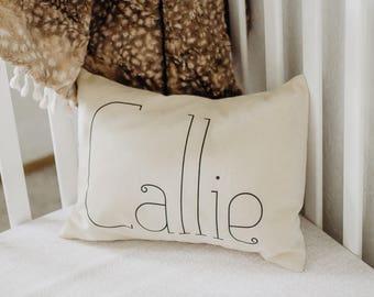 Personalized baby pillow, Newborn gift, girls pillow, name pillow, baby gift idea, whimsical pillow, boy pillow, baby gift, - Emily -