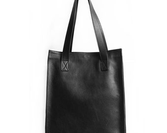 Minimal Look Leather Tote Bag