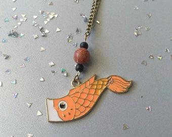 Koinobori Carp/Koi Kite Necklace - 18in/lobster clasp