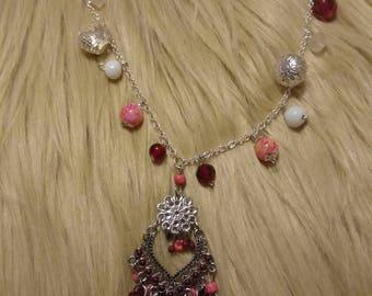 Beaded tassel pendant necklace