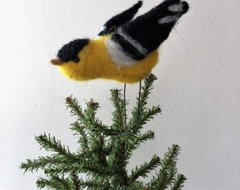 Needle Felted Goldfinch