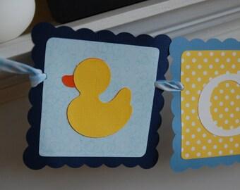 Duck Banner, Duck Name Banner, Rubber Duck Birthday, Rubber Duck Baby Shower, Rubber Duck Theme