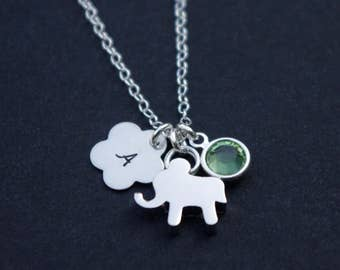 Kids Necklace, Sterling Silver Necklace, Little Girls Jewelry, Elephant Necklace, Elephant Jewelry, Kids Jewelry, Gift for Kids