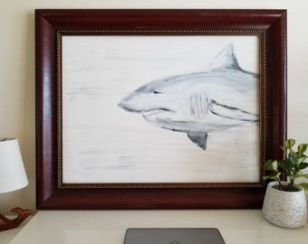 Great White Stroll Original Painting