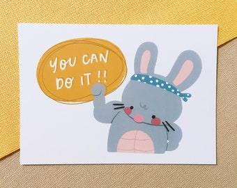 You Can Do It - Squeaky Postcard