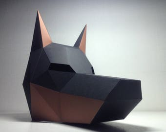 Doberman Mask | Paper Mask | Papercraft 3D DIY kit