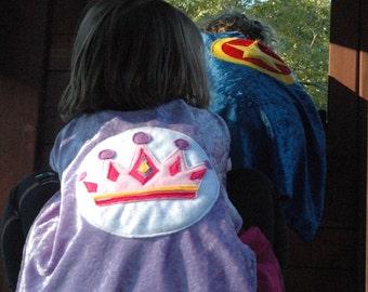 Princess Cape PURPLE and PINK - Super Cape - Birthday Cape - Super Hero Cape - Halloween Costume