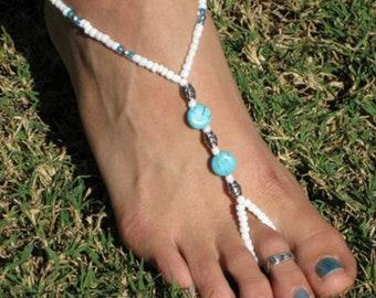 Barefoot Sandal  Turquoise Anklet